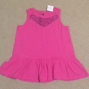 Brand New Tea Collection peplum top in pink